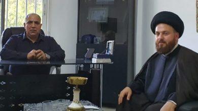 Photo of زيارة لتهنئة السيد محمد عباس  وفريق العمل بعد إنفجار بيروت